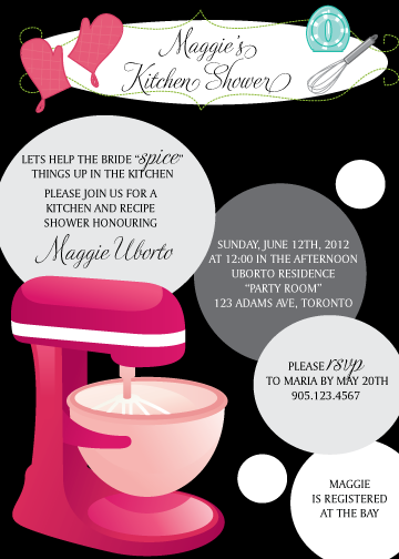 Another kitchen themed bridal shower invitation like this filmwisefo