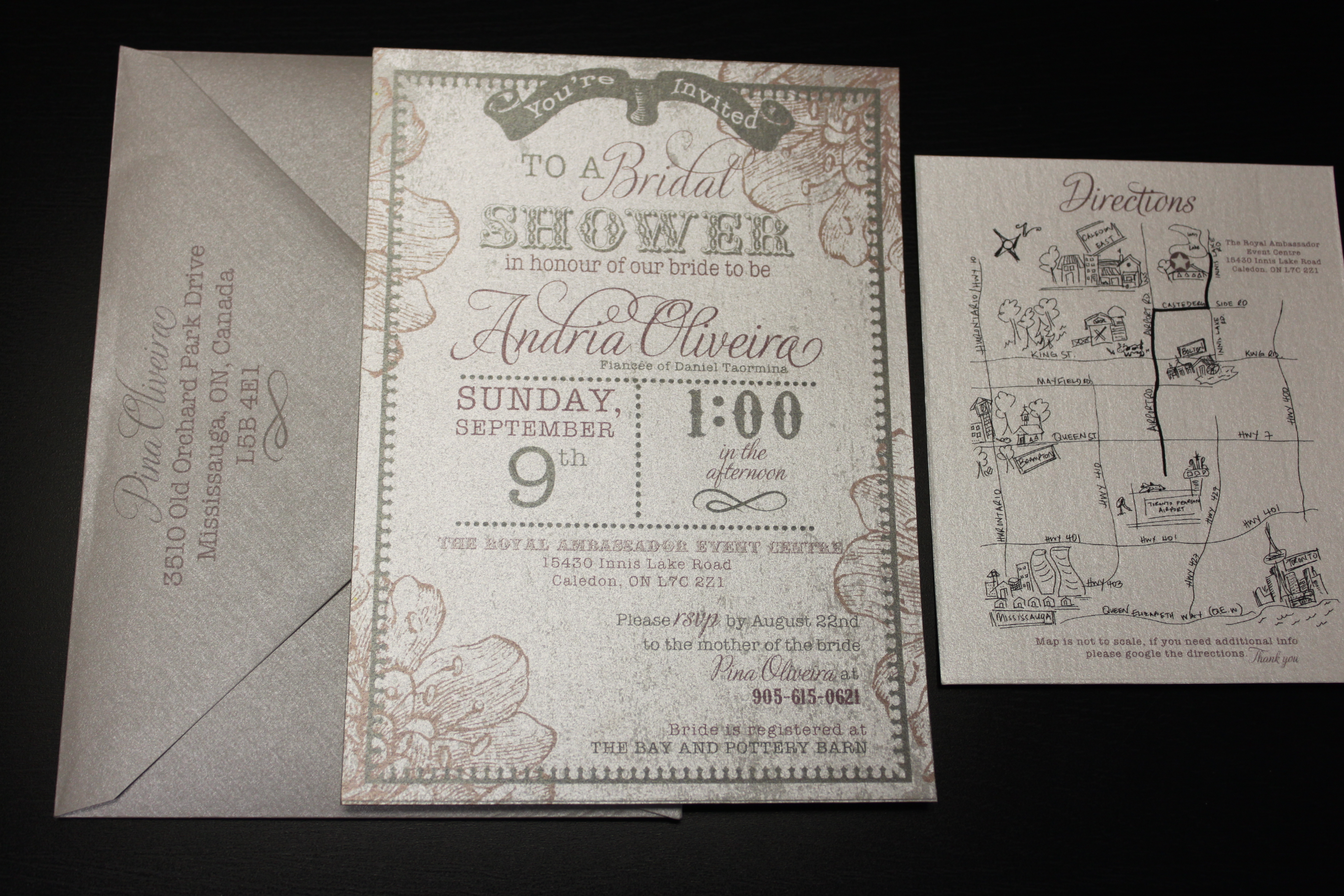 Bridal shower and save the date invitations vintage bridal shower invitation filmwisefo Image collections